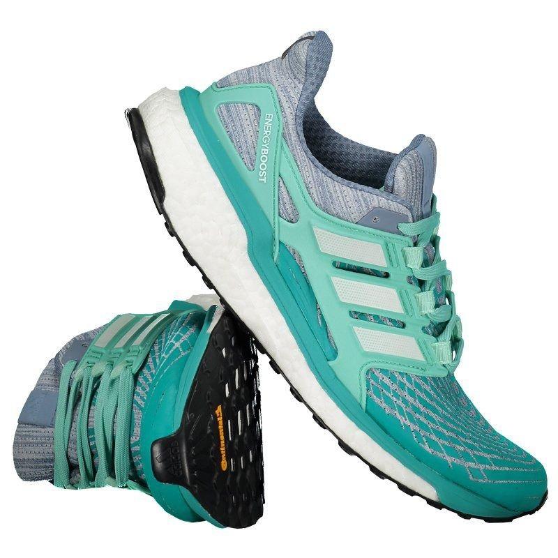 6ab03d258 tênis adidas energy boost feminino azul e verde. Carregando zoom.