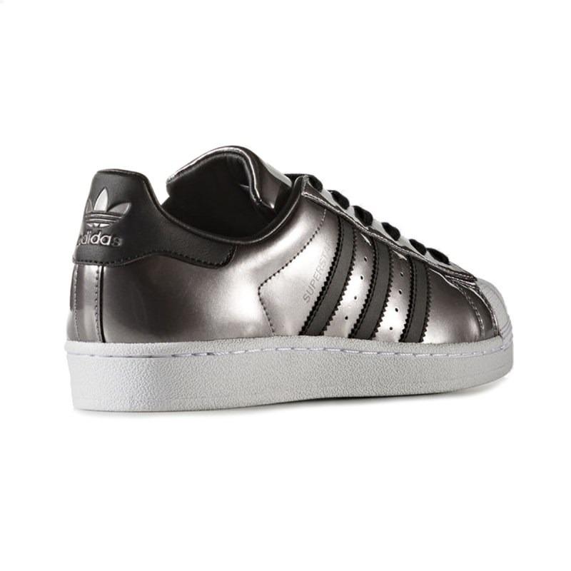 bdbae305ab Tênis adidas Superstar Feminino Prateado - R  219