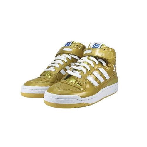 4fde288e91c Tênis adidas Forum Mid Rs Nigo-gold - R  229