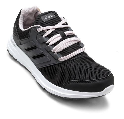 tênis adidas galaxy 4 preto e cinza feminino