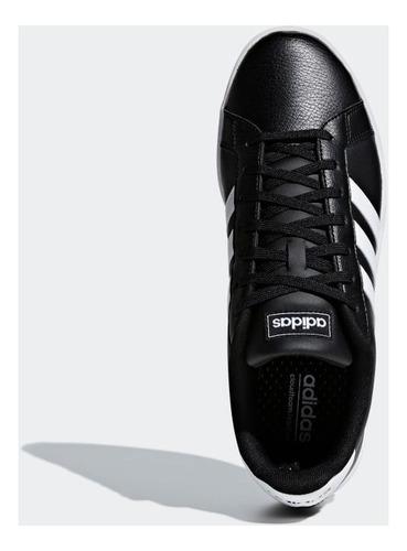 tênis adidas grand court f36393 couro original