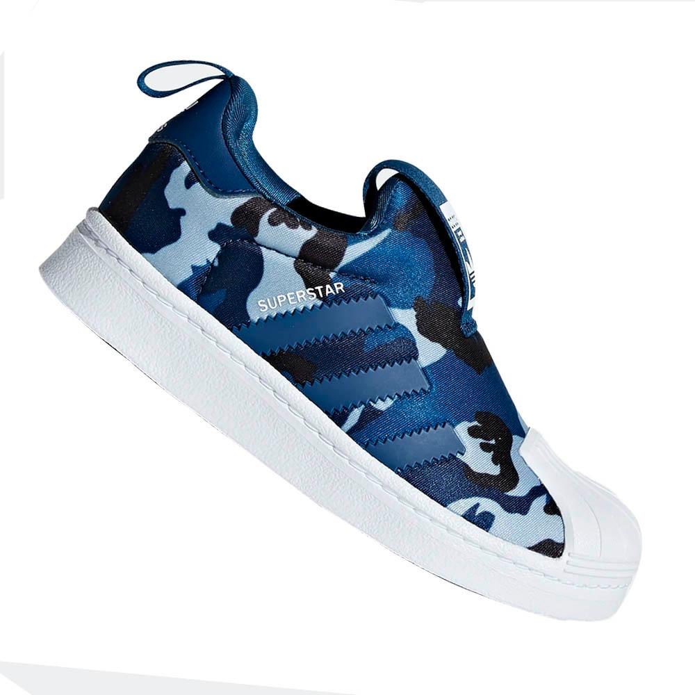 11d6e4e2db tênis adidas infantil superstar 360 azul camuflado cg6569. Carregando zoom.