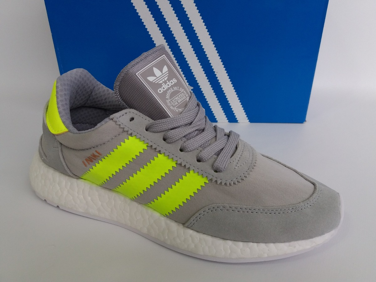 1828a3d935d tênis adidas iniki i-5923 cinza verde fluorescente original. Carregando  zoom.