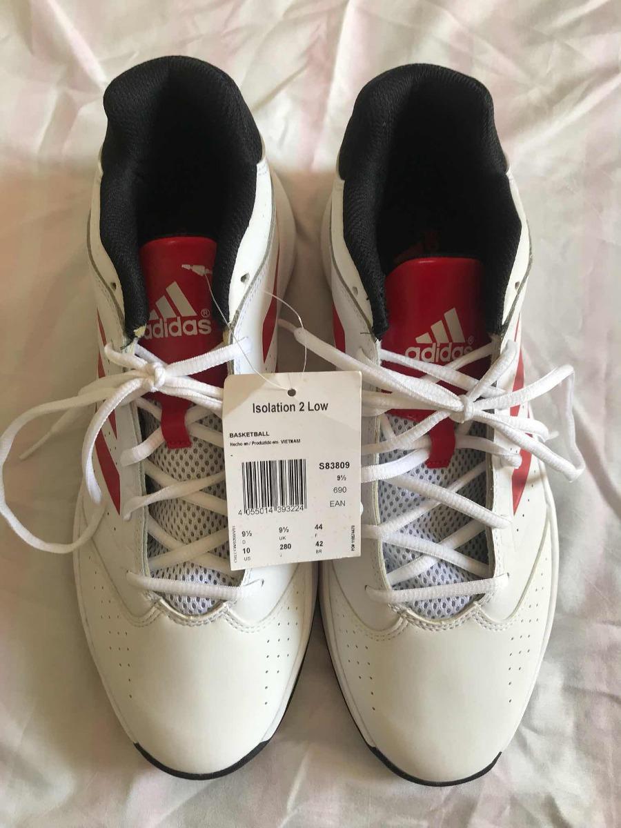 26f52596950 tênis adidas isolation 2 low - branco vermelho - tamanho 42. Carregando  zoom.