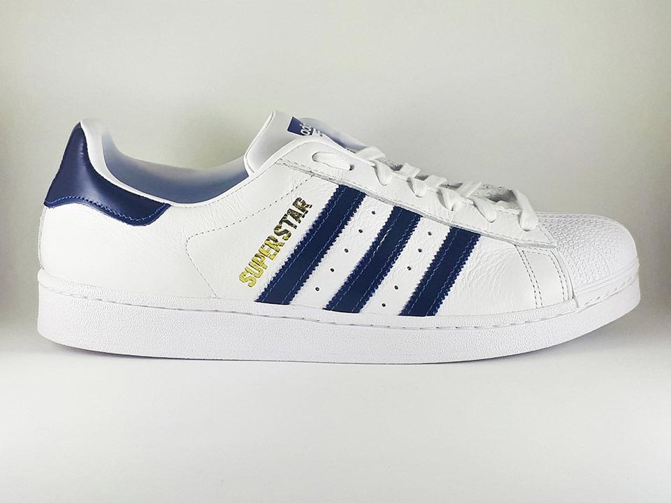 733f2b3cc9e Tênis adidas Originals Superstar Branco E Azul Masculino - R  379