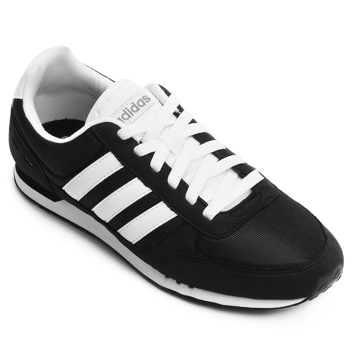 4811c89ec2 ... tênis adidas neo city racer - preto e branco. Carregando zoom.  authentic 4823e 6859a ...