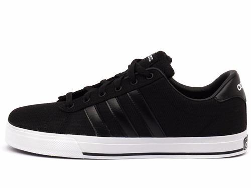 tênis adidas neo daily classic low black skateboarding soft