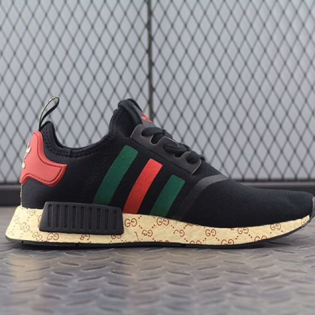 the best attitude 1e482 dc747 Tênis adidas Nmd Boost Gucci Black Top - Frete Gratis