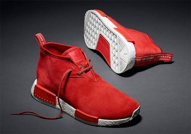 Tênis adidas Nmd C1 Chukka Red Suede Sneakers Style