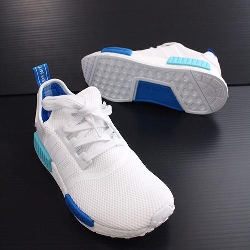 Tênis adidas Nmd R1 Branco E Azul Original Promoção - R  340 e08814898d7c2