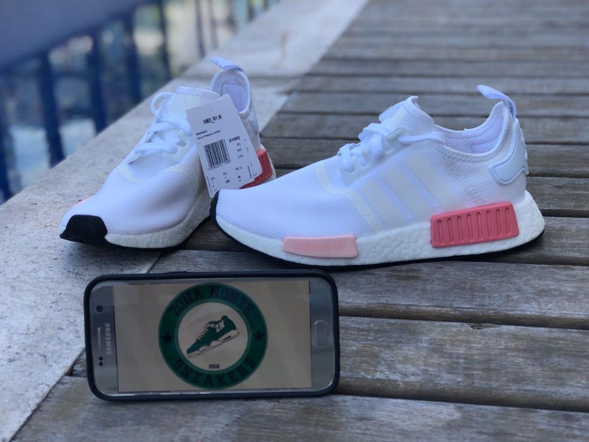 205c28e1082 tênis adidas nmd r1 branco e rosa white pink. Carregando zoom.