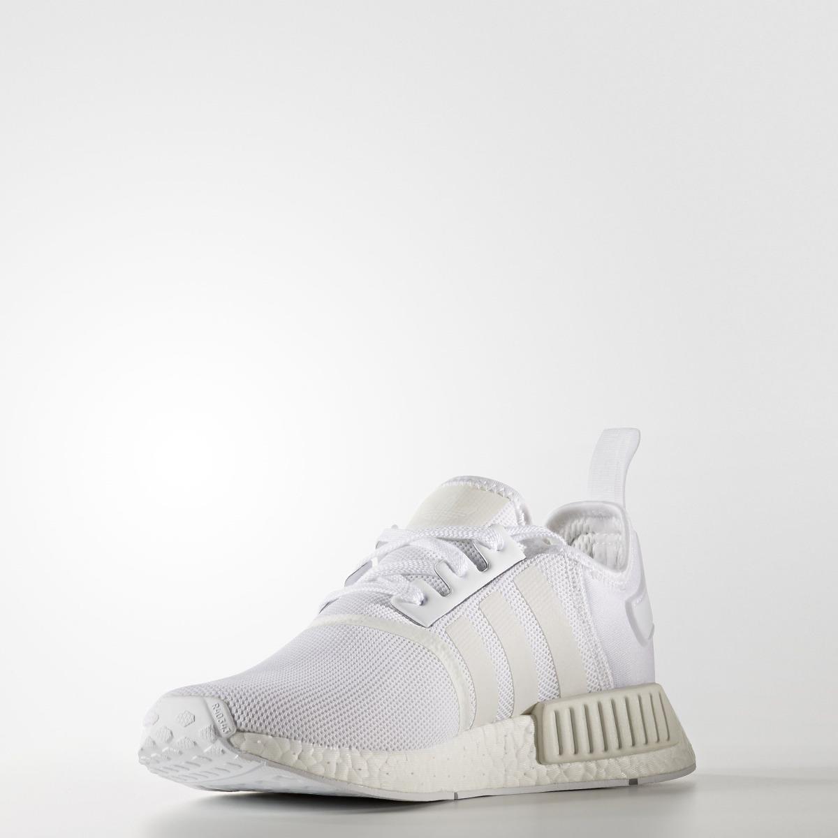 3a43bb4a77 tênis adidas nmd r1 branco unissex original em promoção. Carregando zoom.