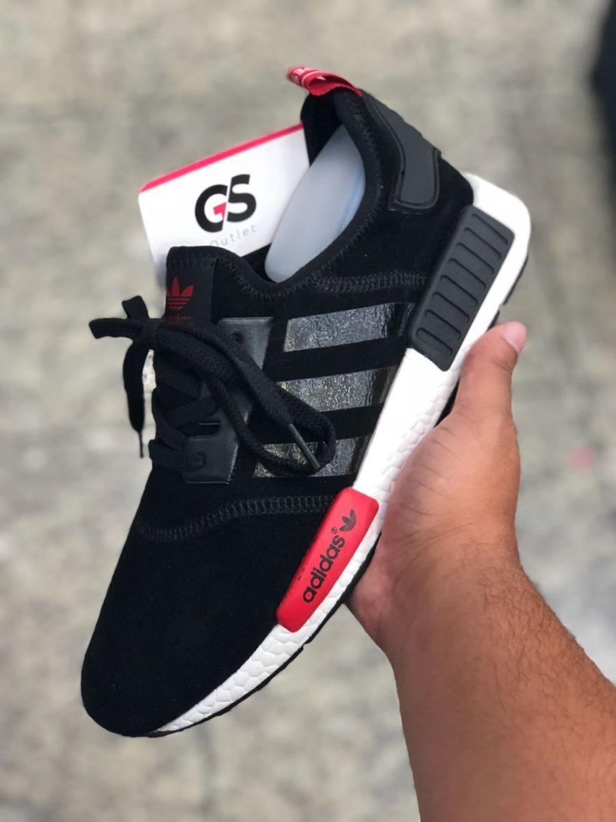 4033444c4f tênis adidas nmd r1 masculino - preto branco - fotos reais. Carregando zoom.