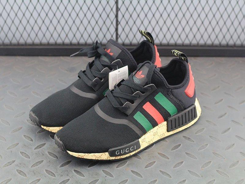 tênis adidas nmd r1 x gucci preto original promoção. Carregando zoom. 3751b9d0de2