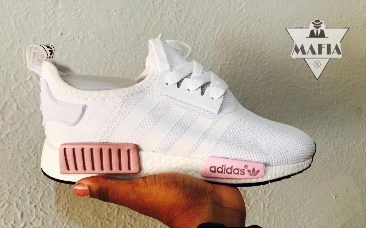 2a65c27e80 tênis adidas nmd runner r1 branco detalhe rosa. Carregando zoom.