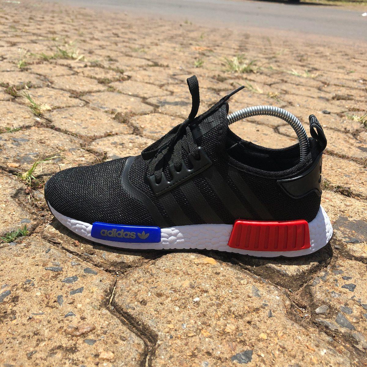 3d1a77d8f2 tênis adidas nmd runner r1 (promoção) - preto vermelho. Carregando zoom.