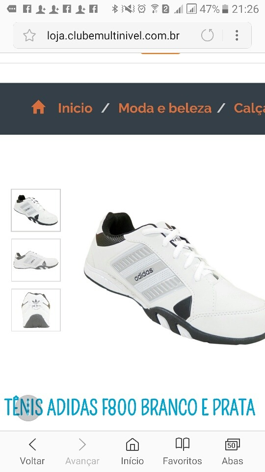 d0bb42cb9 tênis adidas originais f800 branco. Carregando zoom.