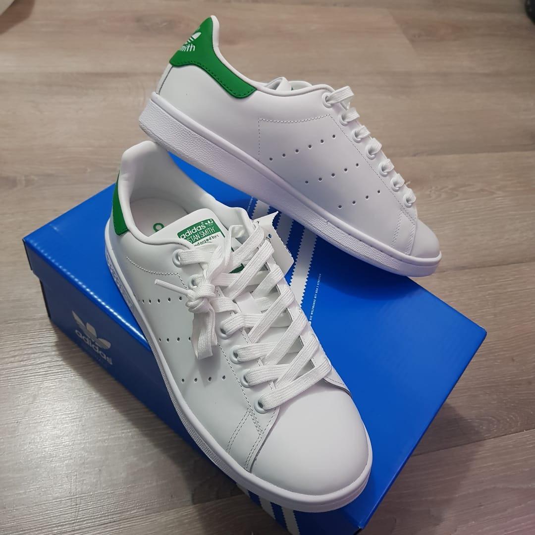 32a568f6f31 tênis adidas originals stan smith branco verde original. Carregando zoom.
