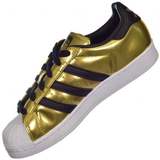 real adidas superstar preto e dourado cc48c 01f7c