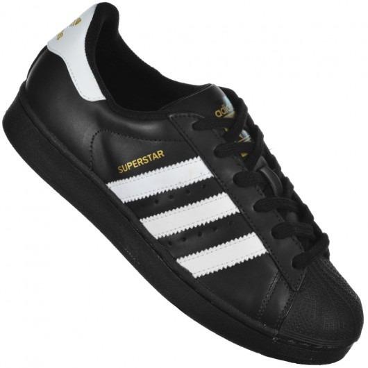 80ac9435d6 Tênis adidas Originals Superstar Foundation Preto branco C n - R ...