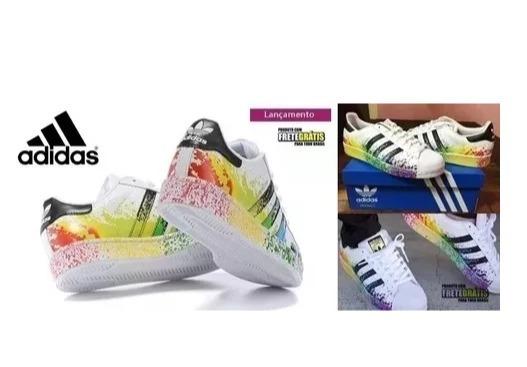 ac56aa550c Tênis adidas Pride Conforto Total Na Sua Caminhada 33% Off - R  227 ...