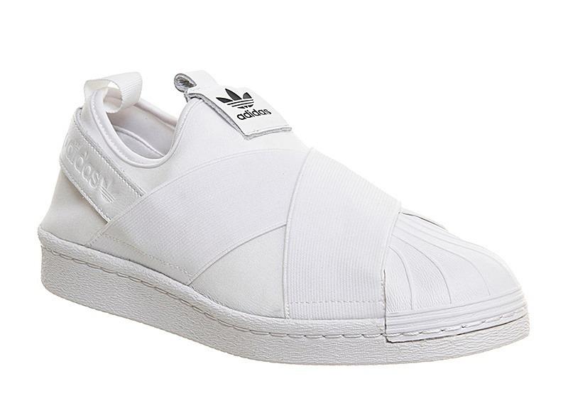 f25b3ad63 tênis adidas slip on superstar elástico branco feminino novo. Carregando  zoom.