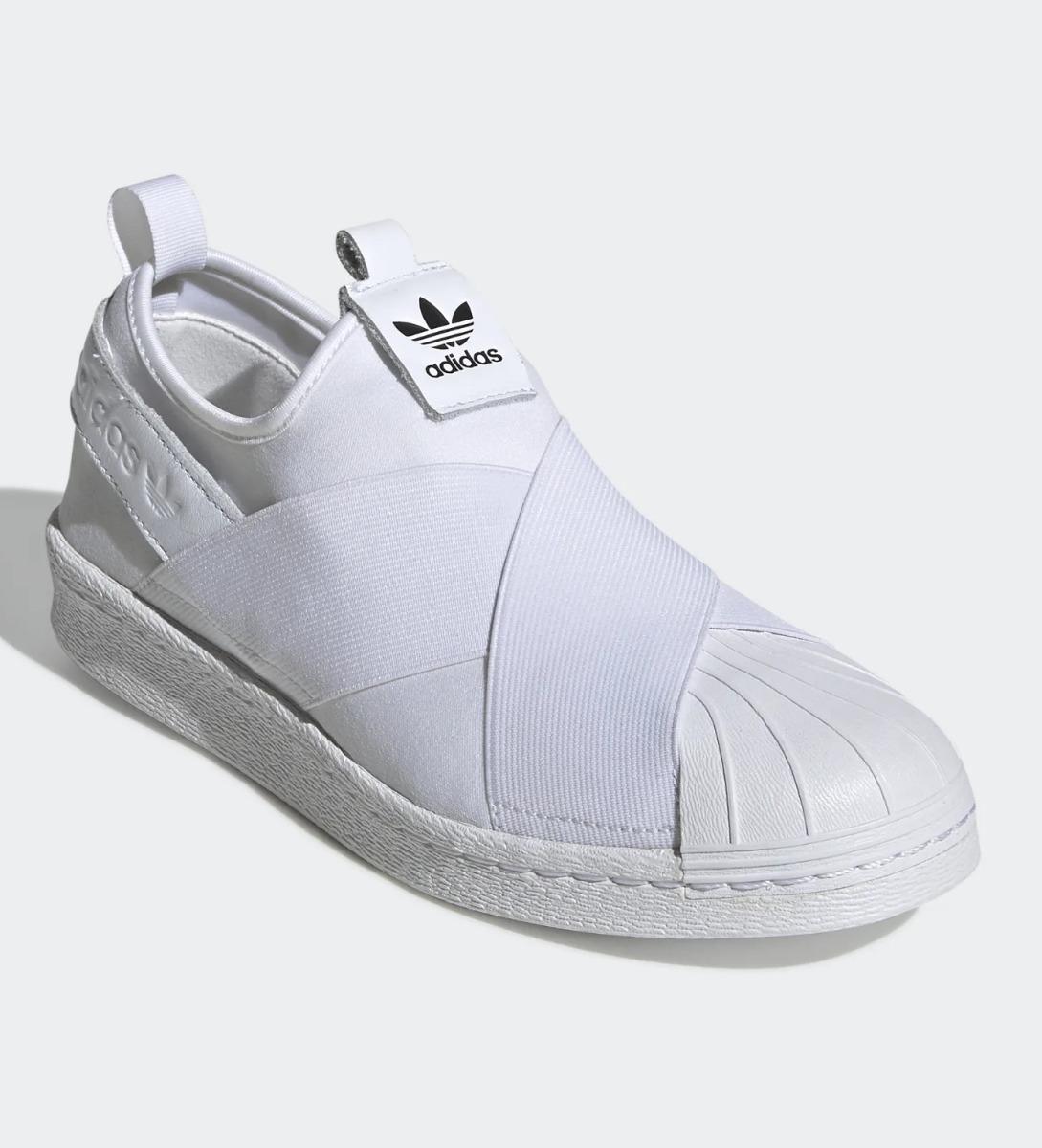 6c604fd1c tênis adidas slip on superstar elástico branco feminino top. Carregando zoom .