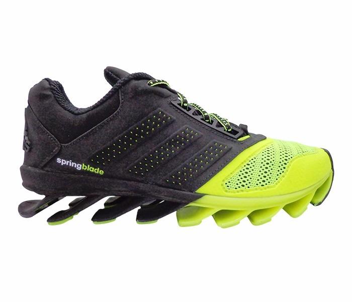 4d0a06de305 Tênis adidas Springblade Drive 2015 Preto E Verde Limão - R  250