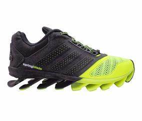 1f1f21857d059 Tenis Adidas Springblade Verde Fluorescente Preto - Tênis no Mercado Livre  Brasil