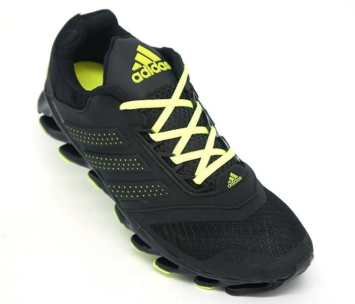 1a6e910c8e3 Tênis adidas Springblade Drive Preto E Verde Limão - R  249