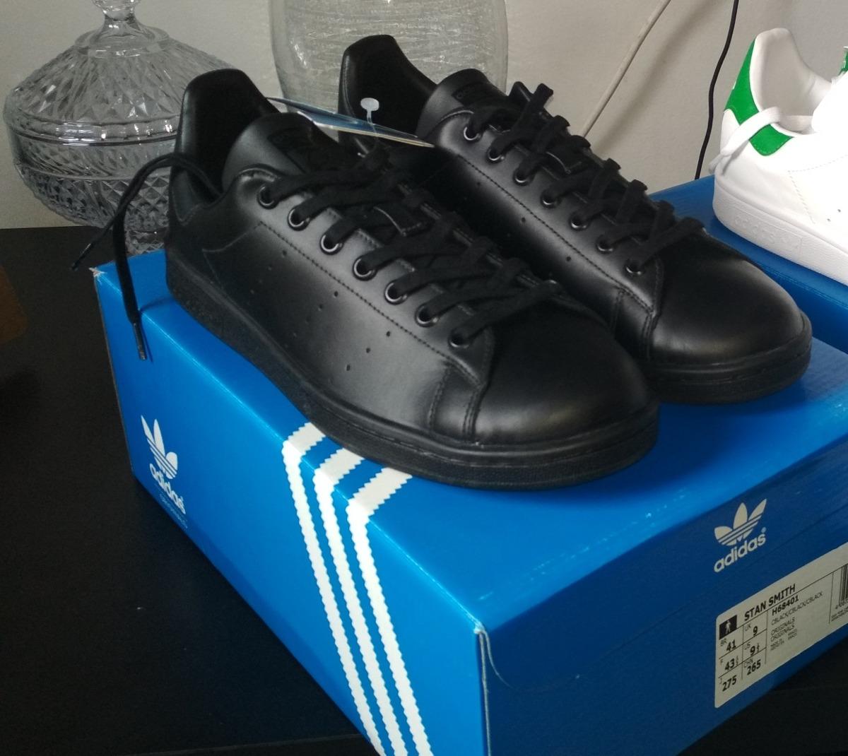 467b8e74d7 tênis adidas stan smith original preto couro masculino. Carregando zoom.