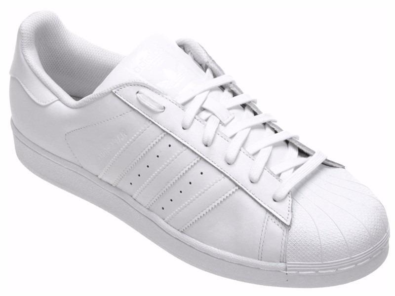 2639ef9face tênis adidas star superstar foundation branco low all white. Carregando  zoom.