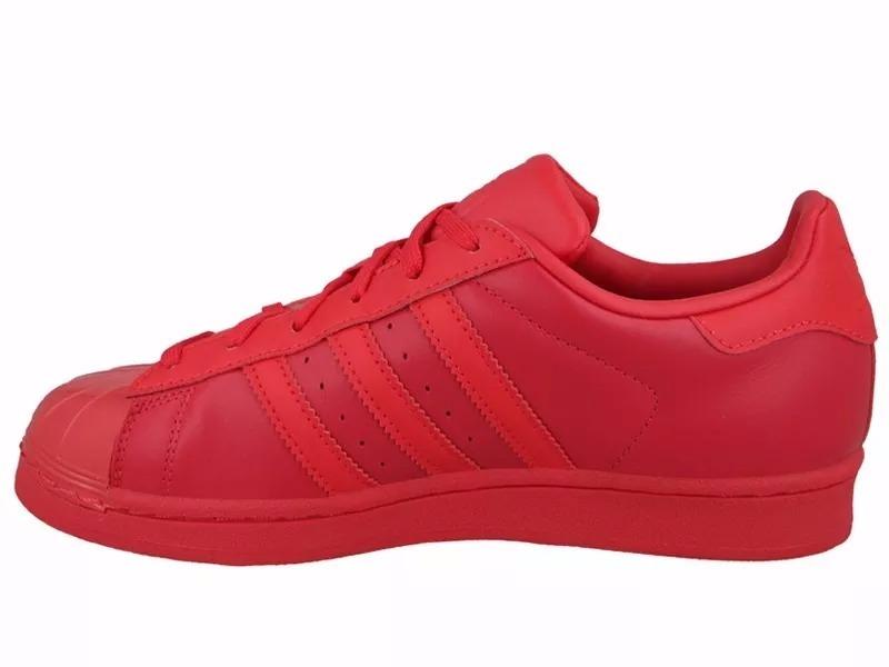 aa66ed958bd Tênis adidas Star Superstar Glossy All Red Toe W Low - R  329