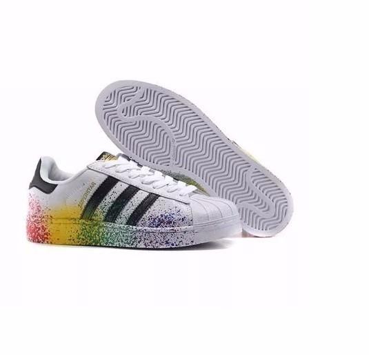 25e56c7302 Tênis adidas Superstar 3 Faixas Couro Entrega Imediata - R  298