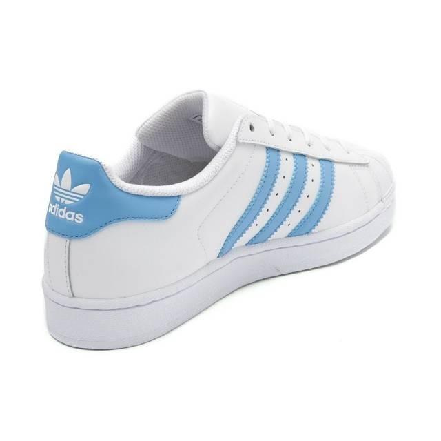 7a4acd1bfb7 ... usa tênis adidas superstar branco com listras baby light blue c4801  29f1b