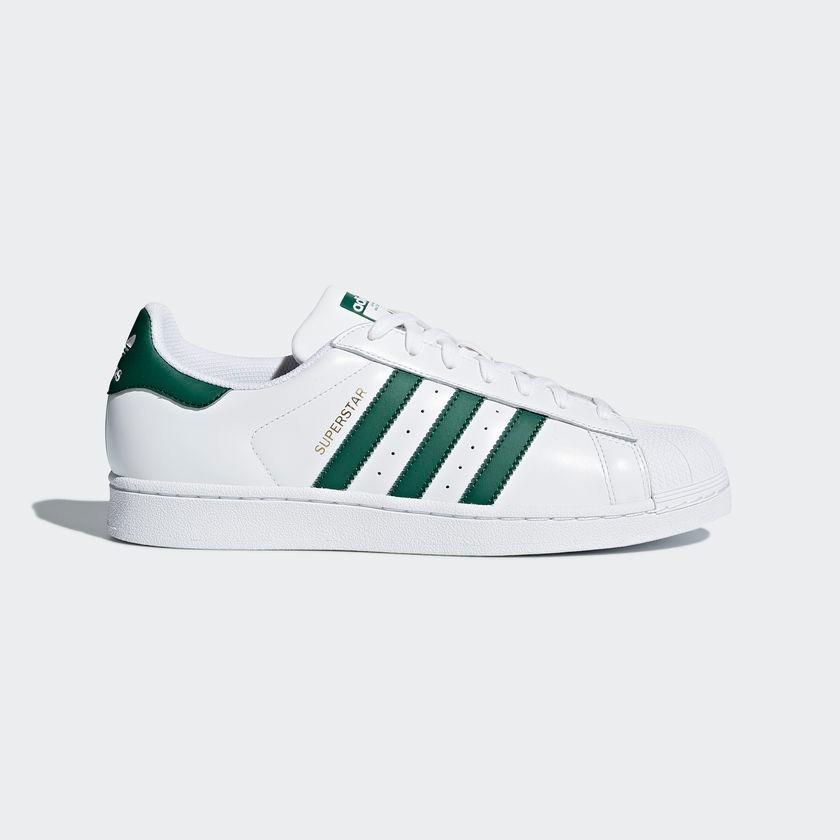 c457b2417be tênis adidas superstar branco e verde original - footlet. Carregando zoom.