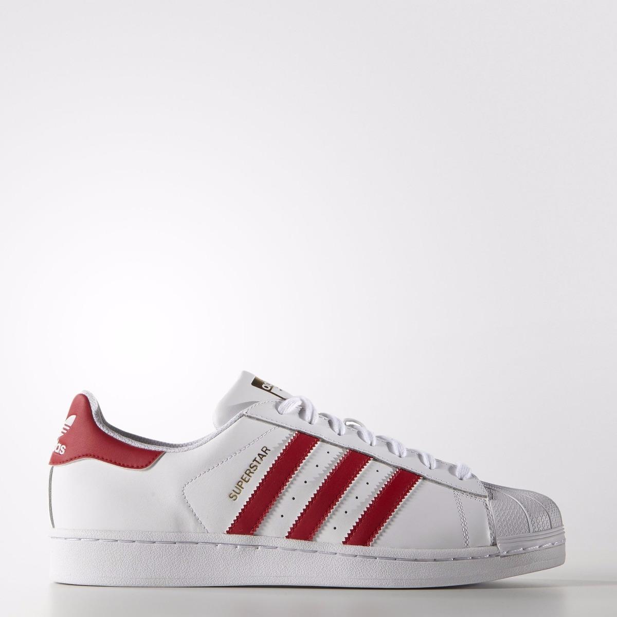 75ddccfff ... free shipping tênis adidas superstar foundation branco vermelho original.  carregando zoom. 36b94 4341a