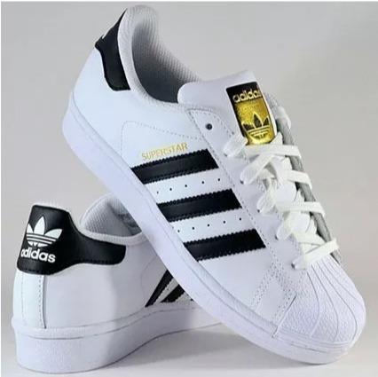 05eaef63aaaeb Tênis adidas Superstar Foundation Preto Total Original - R  300