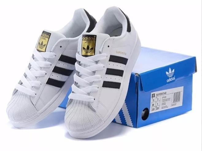 cb81b0bbfc ... Tênis adidas Superstar Foundation Promoção Branco Com Preto - R 240 .