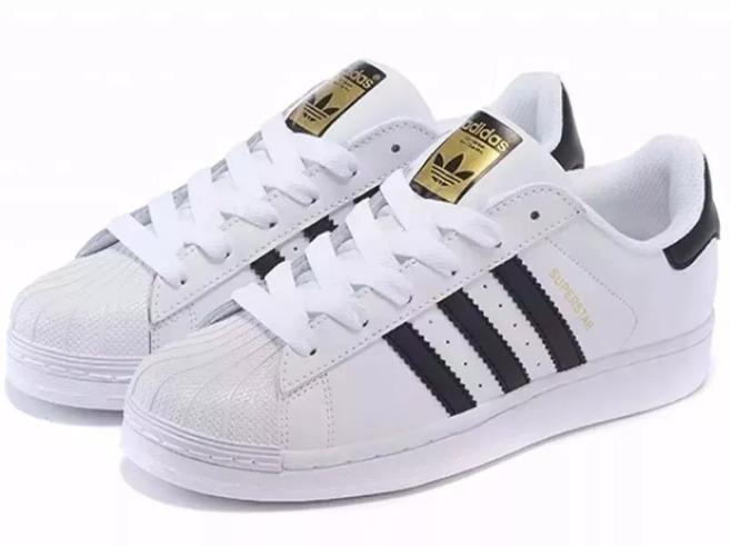 9263937946b Tênis adidas Superstar Foundation Promoção Branco Com Preto - R  240 ...
