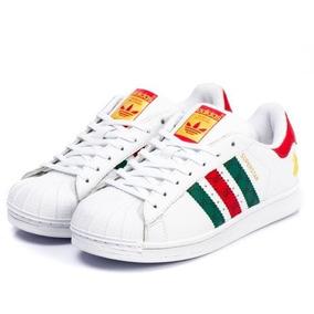 49b29d12b44 Tenis Adidas Superstar Branco Com Prata - Tênis no Mercado Livre Brasil