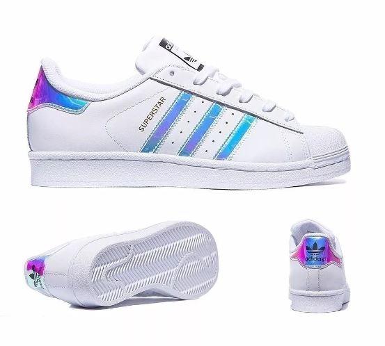 Tênis adidas Superstar Holográfico Feminino 34 Ao 38 - R  259,99 em ... 82dfdd5ef859
