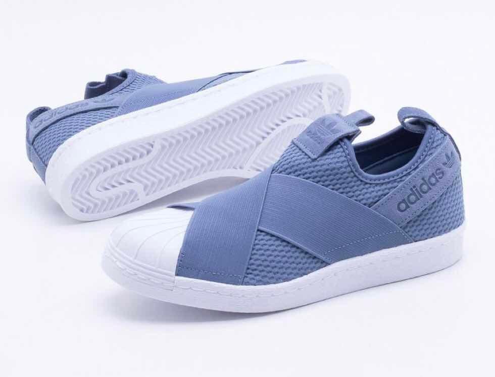 ad5a44337a5 ... aliexpress tênis adidas superstar slip on azul original novo.  carregando zoom. 114d4 e68d4