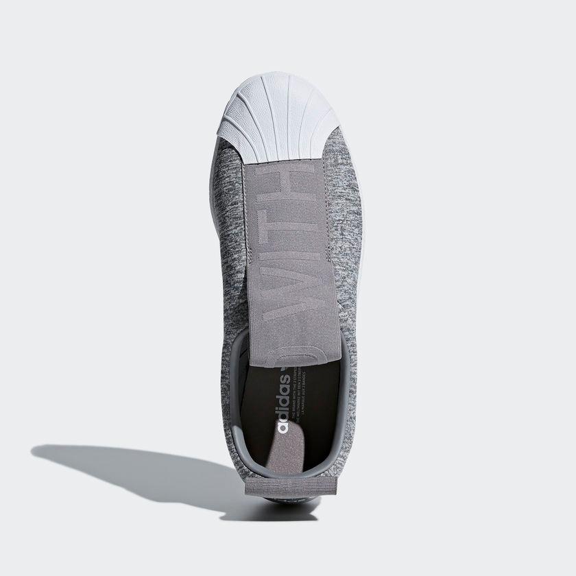 tênis adidas superstar slip-on b w feminino original cinza. Carregando zoom. 776bce52dbc63