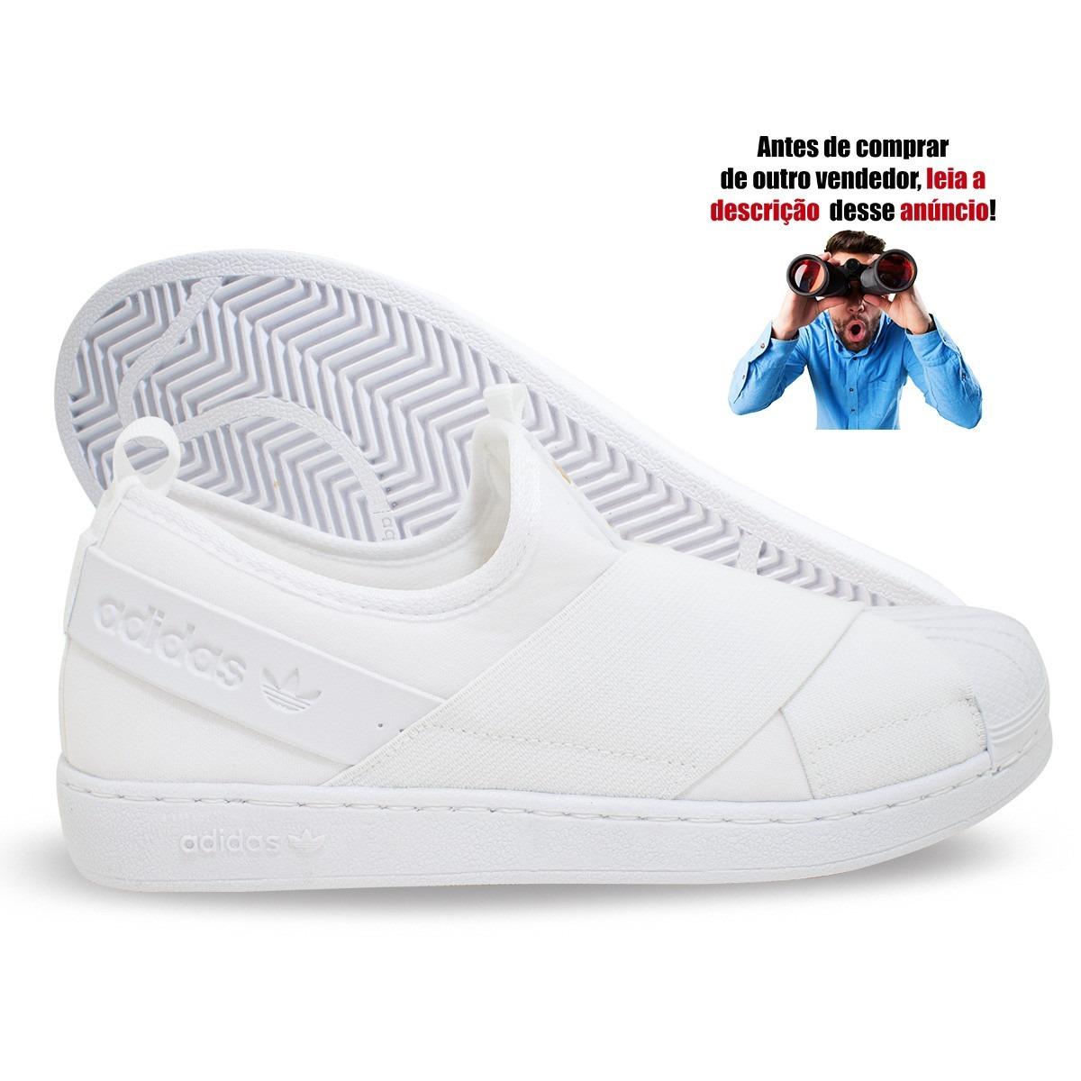 tênis adidas superstar slip on branco promoção feminino masc. Carregando  zoom. bf693865610c9