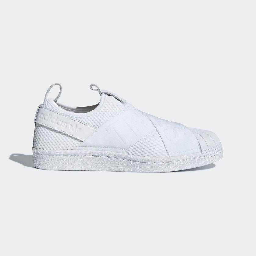 656f79d8f49 tênis adidas superstar slip-on feminino original branco. Carregando zoom.