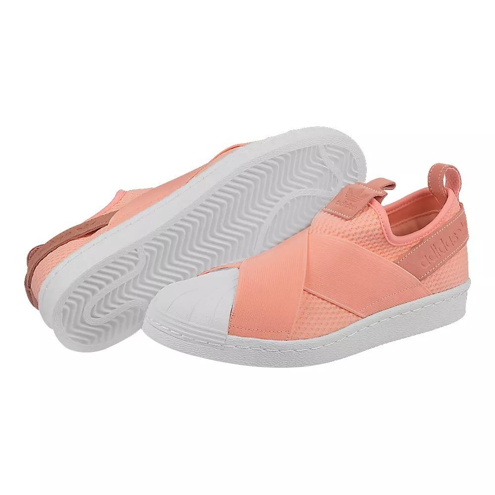 Tênis adidas Superstar Slip On Feminino Rosa Original