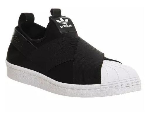 Tênis adidas Superstar Slip On Preto 100% Original Pt1 - R  203 f7bc2fd5d5f65
