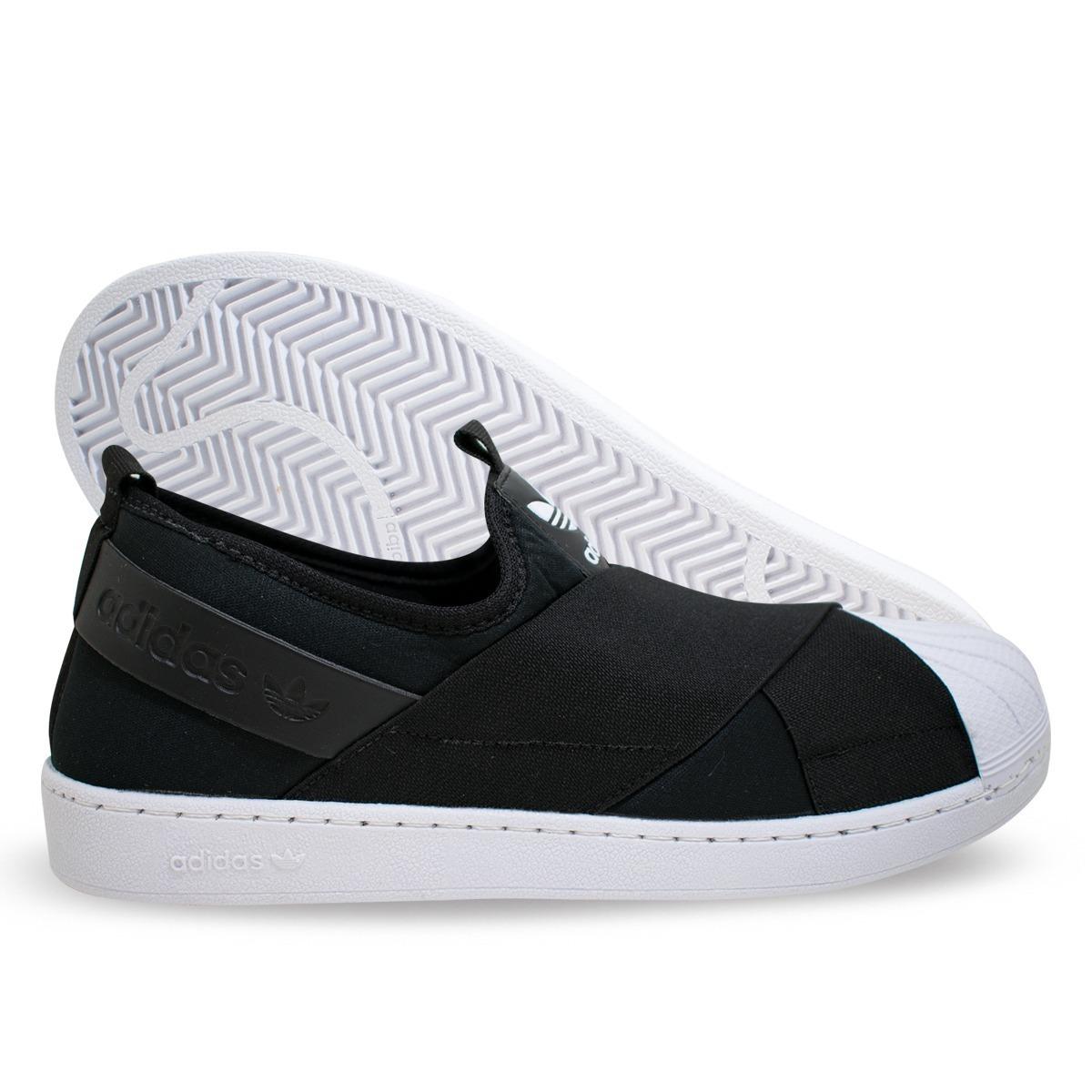 5b66499f46a tênis adidas superstar slip on todo preto elástico lançament. Carregando  zoom.