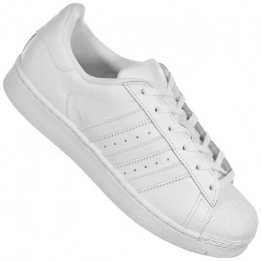 fa62fd7636d Tênis adidas Superstar Todo Branco - Frete Grátis - R  299